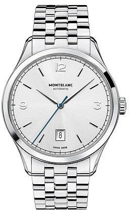 Montblanc Watches Dc19 Heritage Chronometrie Automatic Ss Silvery-Wht Dial Ss Br