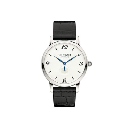 Montblanc Watches Star Classique Automatic 18Krg Silvery-Wht Dial Allig Strap