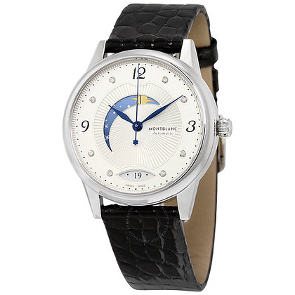 Montblanc Watches Boheme Day & Night Automatic Ss Silvery-Wht Guilloche