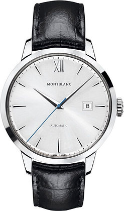 Montblanc Watches Dc19 Heritage Spirit Date Automatic Ss Silvery-Wht Bombe Dial