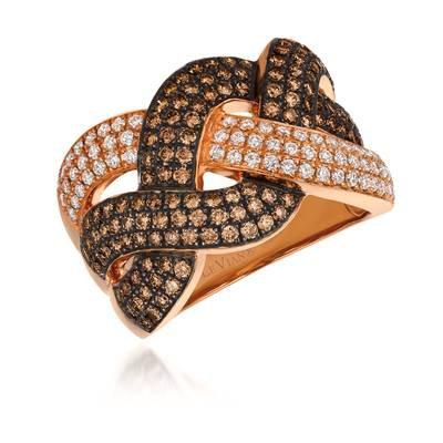 LEVIAN 14K Strawberry Gold Ring 1.39Tw Diamonds