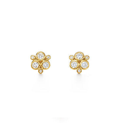 18KY CLASSIC TRIO EARRING IN DIAMOND 0.471CTS.