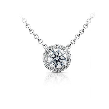 Micro Pave Diamond Necklace