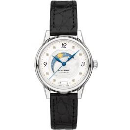 Montblanc Watches Boheme Day & Night Automatic Ss Silvery-Wht Guilloche Dial
