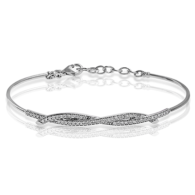 ZEGHANI 14Kwg Bangle With Diamond 0.42Ct