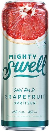 Mighty Swell Grapefruit 355ml Cans in a 6 Pack