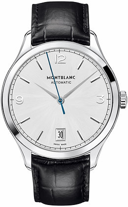 Montblanc Watches Dc19 Heritage Chronometrie Automatic Ss Silvery-Wht Dial