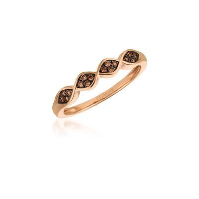 LEVIAN 14Kr Petite Chocolate Ring