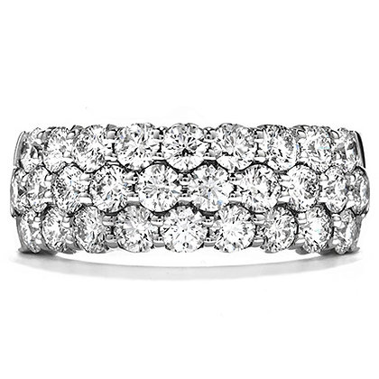 Hearts On Fire Dc20 C-Truly Triple Row Right Hand Ring 1.06-1.16 Ctw