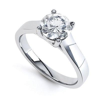 Diamond Solitaire Ring Lucinda