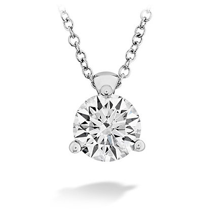 Hearts On Fire Dc20 Hof Classic 3 Prong Solitaire Pendant .30-.35Ctw 18Ky