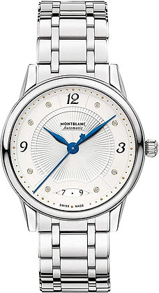 Montblanc Watches Boheme Automatic  Ss Silvery-Wht Guilloche Dial W/ Dia Ss Br