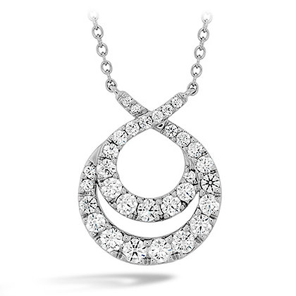 Hearts On Fire Dc20 18Kwg Optima Double Circle Diamond Necklace 1.20-1.30Tcw