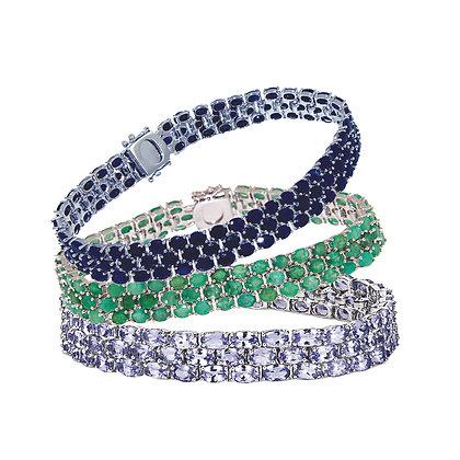 Tanzanite Silver Bracelet  20CT
