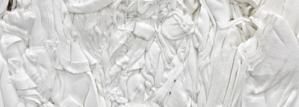 White 100% Cotton clips bale