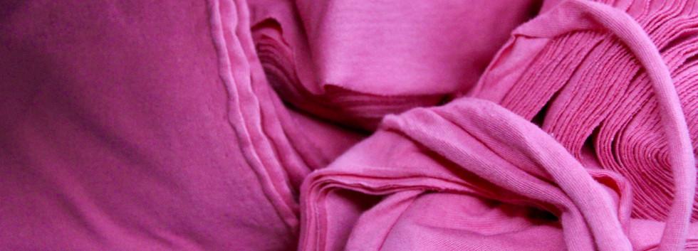 Fuchsia clips 100% cotton