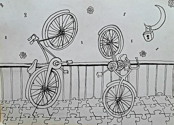 רולו - שרשרת ׳ידיעה׳ - יצירה 3- ׳זוג אופניים׳