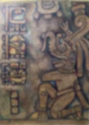 רולו - שרשרת ׳שמים׳ - יצירה 5- ׳Chaac. Rain and Storm Mayan God׳