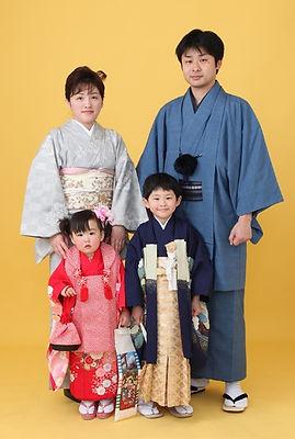 家族写真と七五三着物aibien.鹿児島