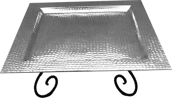Large Hammered Square Tray    CHA920