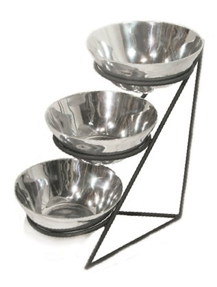 3 Bowl Set With Stand TBS001