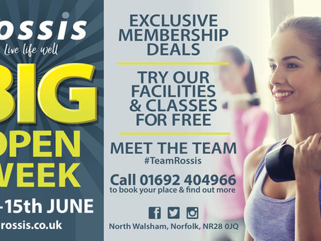 It's back – and it's even B I G G E R – Rossis Open WEEK 8th to 15th June