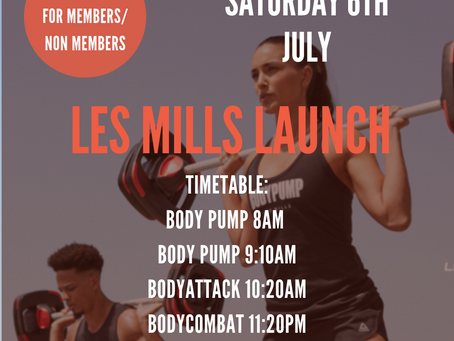 It's coming …. the NEW Les Mills Launch – Saturday 6th July