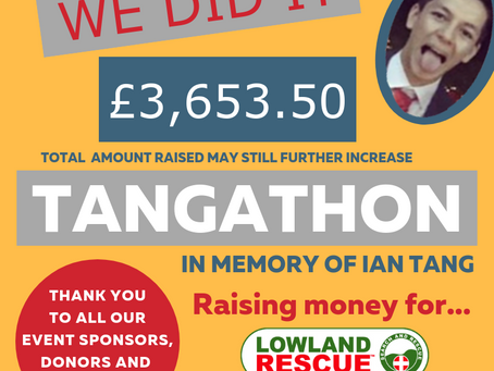 The Tangathon raises over £3,650
