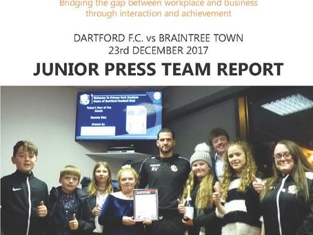 Thank you Dartford Football Club!