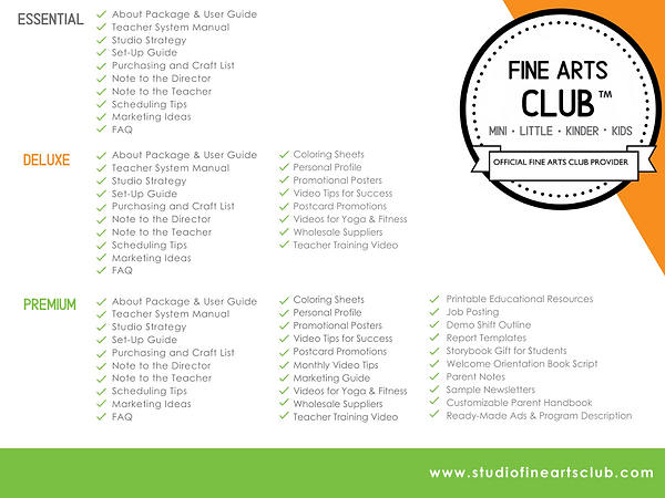 Studio Fine Arts Club Package Overview.p