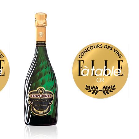 """Médailles d'or pour Tsarine Orium et Tsarine Rosé au concours """"ELLE à table"""" 2021 !"""