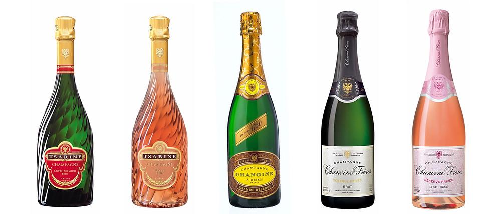Champagnes Tsarine et champagnes Chanoine