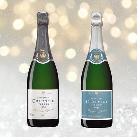 Chanoine Frères Réserve Privée Champagnes: Holiday Menus for the Brut and Millésime 2014 Cuvées