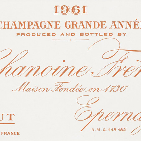 Chanoine Frères 1961: A Champagne from a Great Year