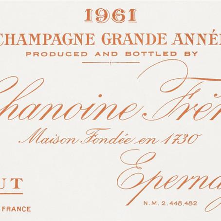 Chanoine Frères 1961, champagne grande année
