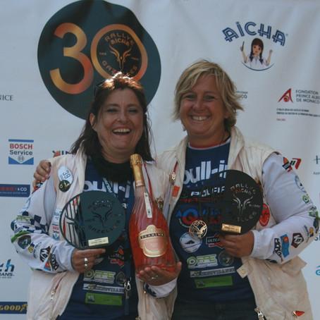 Arrivée du Rallye Aïcha des gazelles du Maroc 2021 - Tsarine sur le podium