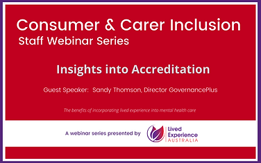 Consumer & Carer Inclusion - Insights in