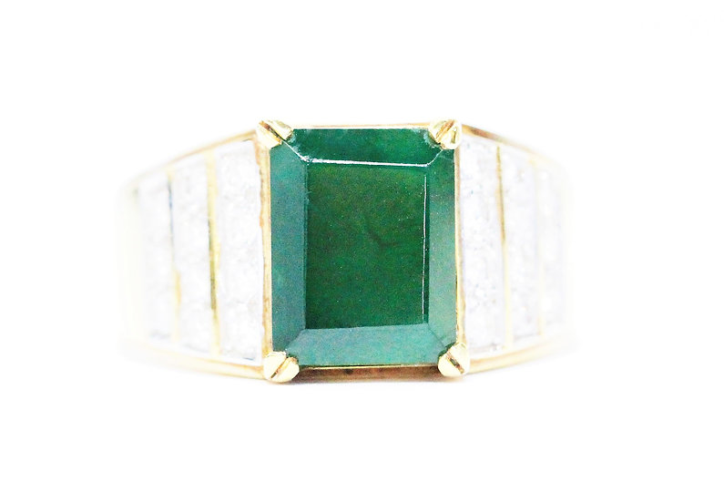 Burmese jade ring