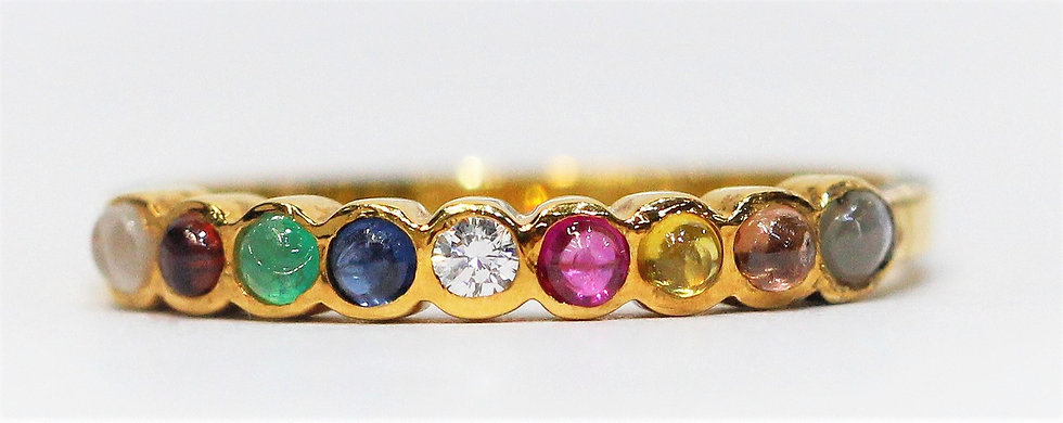 navaratna yellow gold Phoenixjewelry  ring
