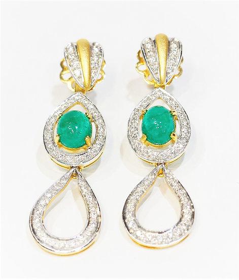 Columbia emerald earrings