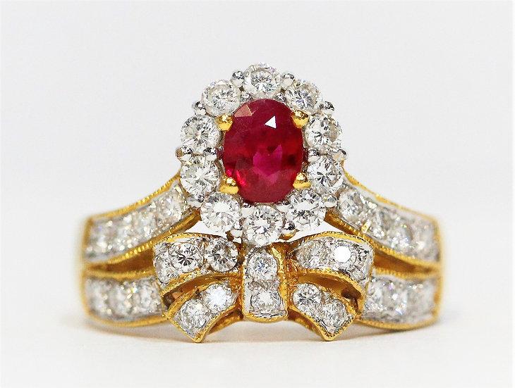 crown ruby Phoenixjewelry  Diamond ring
