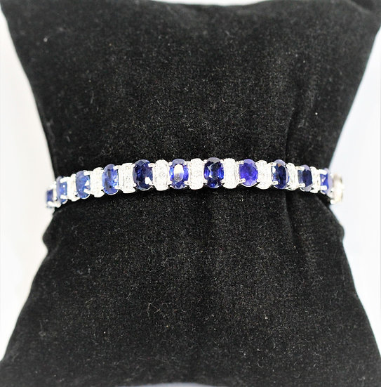 Blue sapphire Phoenixjewelry diamonds bracelet