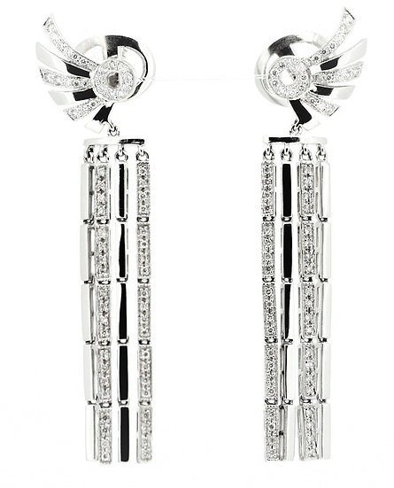 Wing-shape diamonds phoenixjewelry earrings