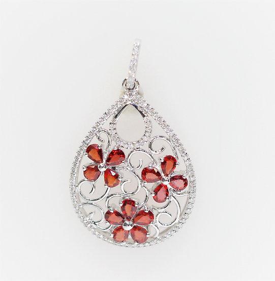 Songjia ruby phoenixjewelry pendant