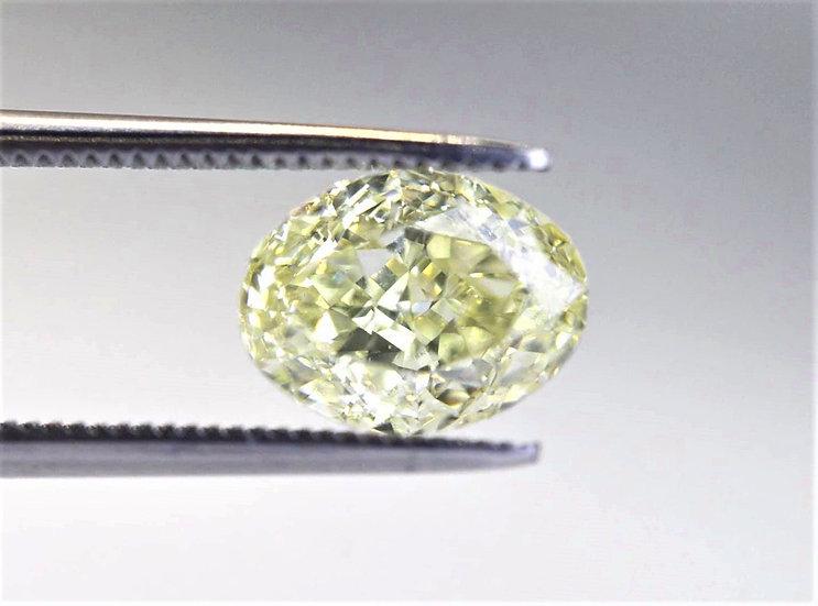 GIA Oval modified Brilliant Phoenixjewelry loose diamond yellow 2.02 cts.