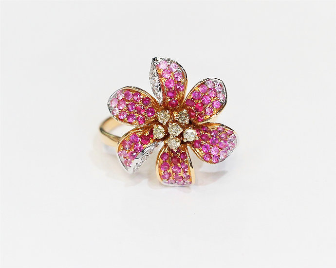 phoenixjewelry Flower ruby ring