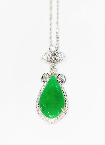 Cer jade Phoenixjewelry  diamonds Pendant