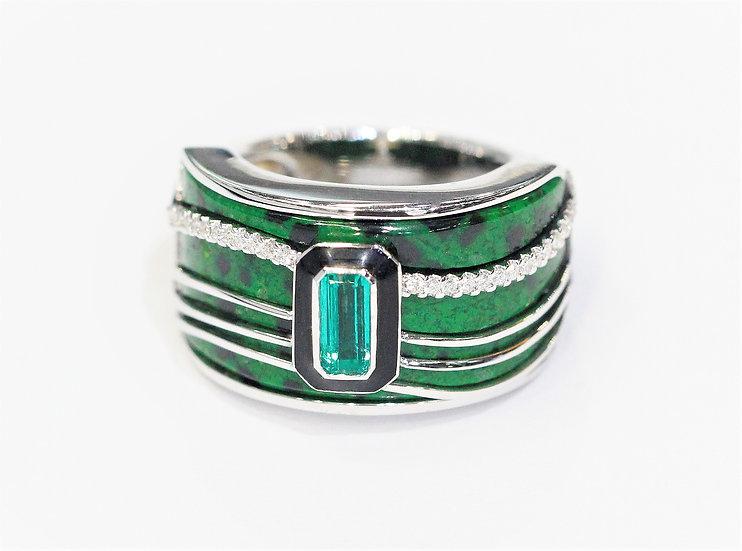 Maw sit sit Emerald phoenixjewelry ring