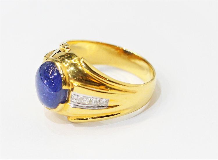 phoenixjewelry Blue sapphire Men ring