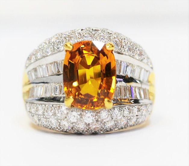 Yellow sappire Bangkaja ring